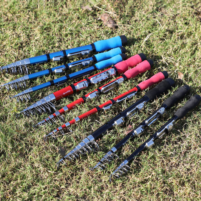 Best No. 1 Mini Telescopic Rod Fishing Rods cb5feb1b7314637725a2e7: Black|Blue|Red