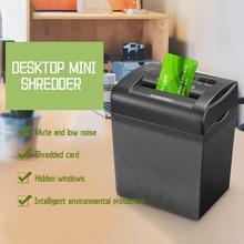 004c-1 4.5l Electric Mini Shredder File Shredder Strip Office Home  Electric Shredding 220v Paper Shredder Card Shredder 4*35mm