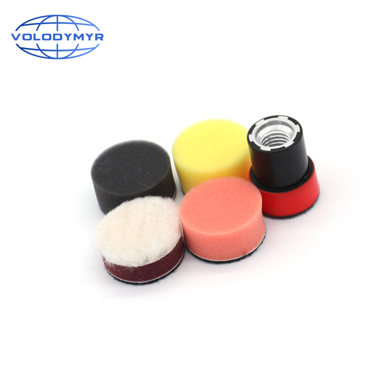 Polishing Pads 1 Inch Polish Pad Kit Contain M14 Tray Auto Accessorie Waxing Sponge for Car Buffing Machine Detail Polisher