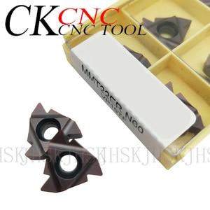 Image 2 - 10PCS MMT22IR N60 VP15TF MMT22ER N60 VP15TF 3.5 6mm Thread cutting carbide insert 22ER/22IR for Threading Turning Tool  SER /SNL
