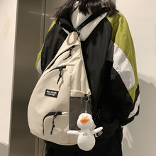 DCIMOR New Fshion Multi-function Dark Fringe Waterproof Nylon Backpack Men and Women Multiple Pockets Portable Lovers Schoolbag