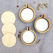 10Pcs Mini Borduren Hoepel Houten Kruissteek Hoepel Ring Borduurraam Hout Ringen Diy Craft Naaien Kit Hanger Cirkel craft