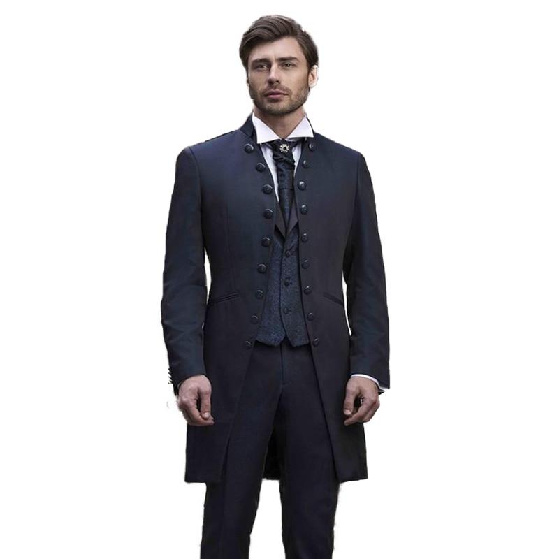 Man Suit For Wedding Business Suit Dinner Suit Party Suit Party Dress Peaky Blinder Wedding Dress 3Piece Suit(Jacket+Pants+Vest)