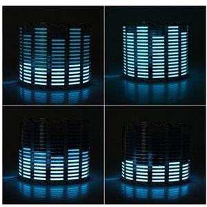 Image 2 - Car Blue LED Music Rhythm Flash Light Sound Activated Sensor Led Equalizer Car Rear Windshield Sticker Styling Neon Lamp Kit