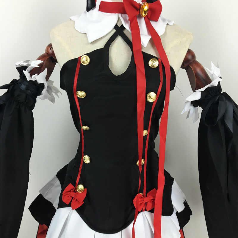 Neue Anime Seraph der ende Krul Tepes Perücken Cosplay Kostüme Lolita Kleid Vampire Uniformen 6 teile/satz Für Halloween Party spielen