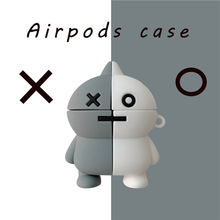 3D Earphone Case For AirPods Silicone Cute Cartoon Doll Cover Apple Air pods 2 Headphone Earburd Ring Strap