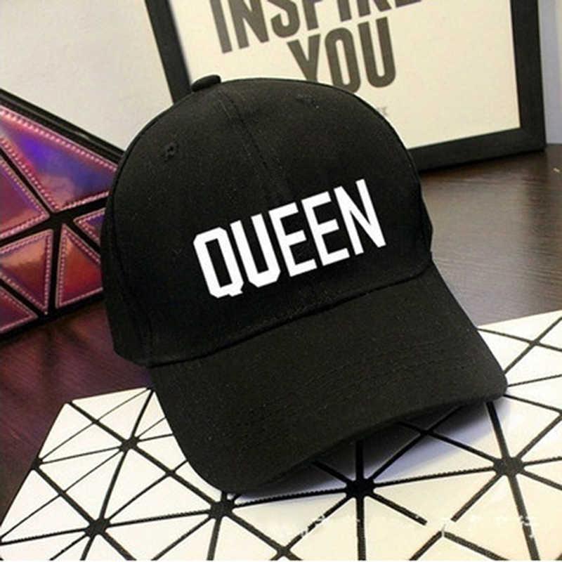 חדש מלך מלכת כובעי חדש אופנה היפ הופ בייסבול כובעי בד מכתב הדפסת כובע אוהבי Snapback שמש כובע לגברים נשים כובעים
