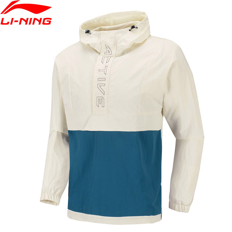 Li-Ning Men Training Windbreaker AT PROOF SMART Water Repellency 100% Nylon Loose LiNing Li Ning Sports Jackets AFDQ095 MWJ2632