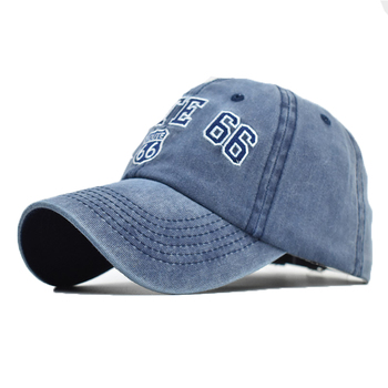 The New 66 Digital Embroidered Baseball Cap Men and Women Street Hip-hop Cap Washed Old Duck Tongue Cap Youth Hat Casual new patchwork hat stars personality baseball cap hip hop kpop cap men and women teenagers