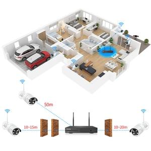 Image 5 - Techege Draadloze Cctv systeem 1080P Audio Record 2MP 8CH Nvr Waterdichte Outdoor Wifi Cctv Camera System Video Surveillance Kit