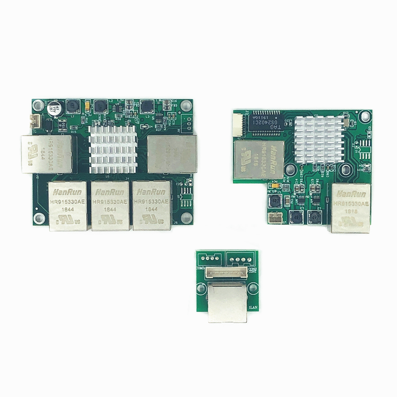 Industrial Ethernet Switch Module 3/5 Ports Unmanaged10/100/1000mbps  Celsius OEM Auto-sensing Ports PCBA Board OEM Motherboard