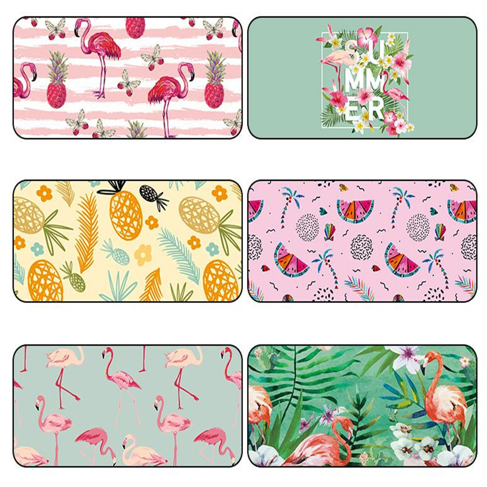 Cute Flamingo Series Mouse Pad Large Game Computer Keyboard Office Long Table Mat Office Supplies Desk Set Deskpad Accessories