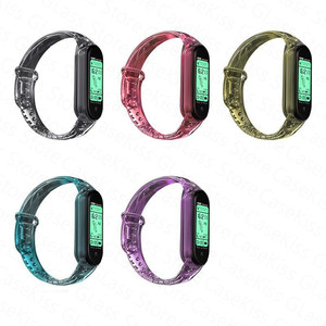 Image 4 - Nova pulseira para xiaomi mi banda 6 5 descoloração transparente silicone substituição pulseira para xiaomi miband 6 miband5 cinta