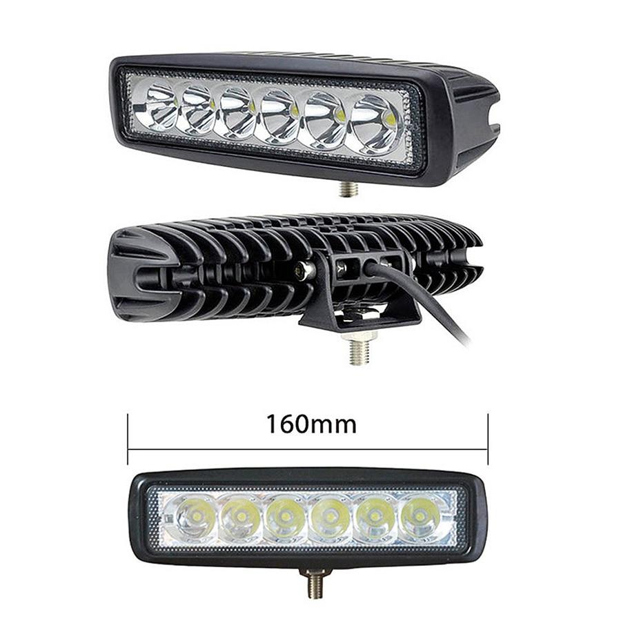 "Image 3 - 10Pcs 6"" 18W LED Light Bar 12V 24V Motorcycle Offroad 4x4 ATV Spot Daytime Running Lights Truck Tractor Warning Work SpotlightLight Bar/Work Light   -"