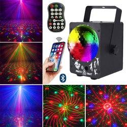 MP3 Led Disco projektor laserowy świąteczne oświetlenie na imprezę głośnik Bluetooth kula dyskotekowa RGB oświetlenie sceniczne dj a dekoracje do domu w Oświetlenie sceniczne od Lampy i oświetlenie na