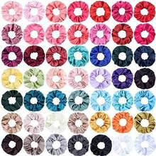 27 Color Soft Chiffon Velvet Satin Hair Scrunchie Floral Grip Loop Holder Stretchy Hair Band Leopard Women Hair Accessories(China)