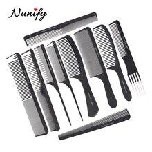 Hair-Brush Hair-Tooth-Comb Store Professional Women Salon Black Nunify Barber-Tool Cutting