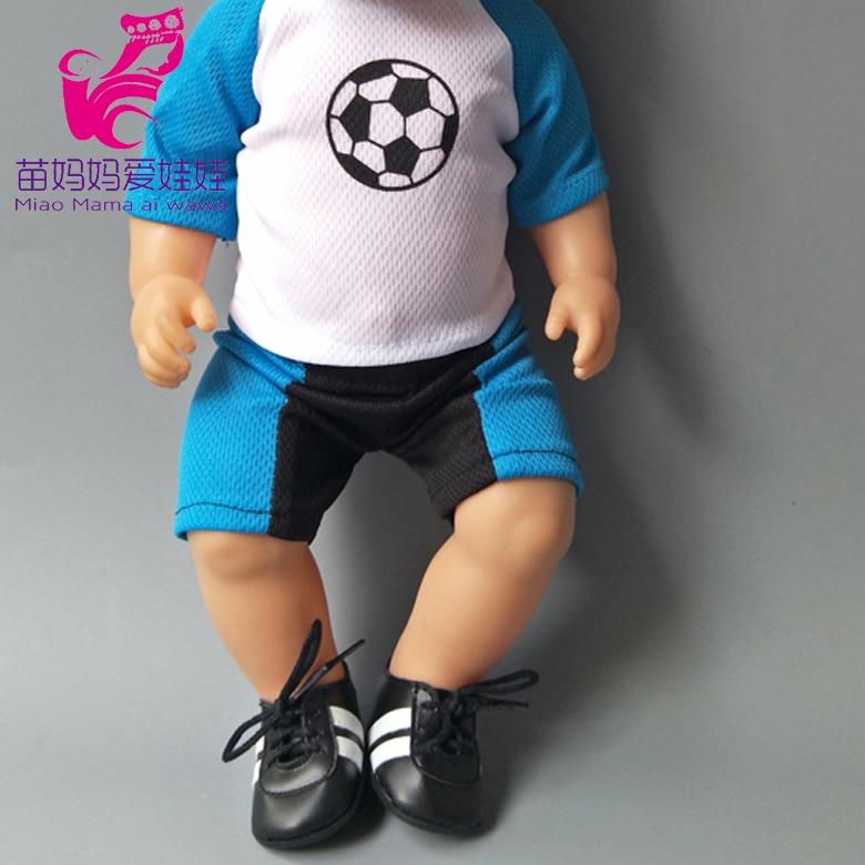 Doll fashion football sport set for 43cm Baby boy new Born Doll sport set for 18 inch dolls