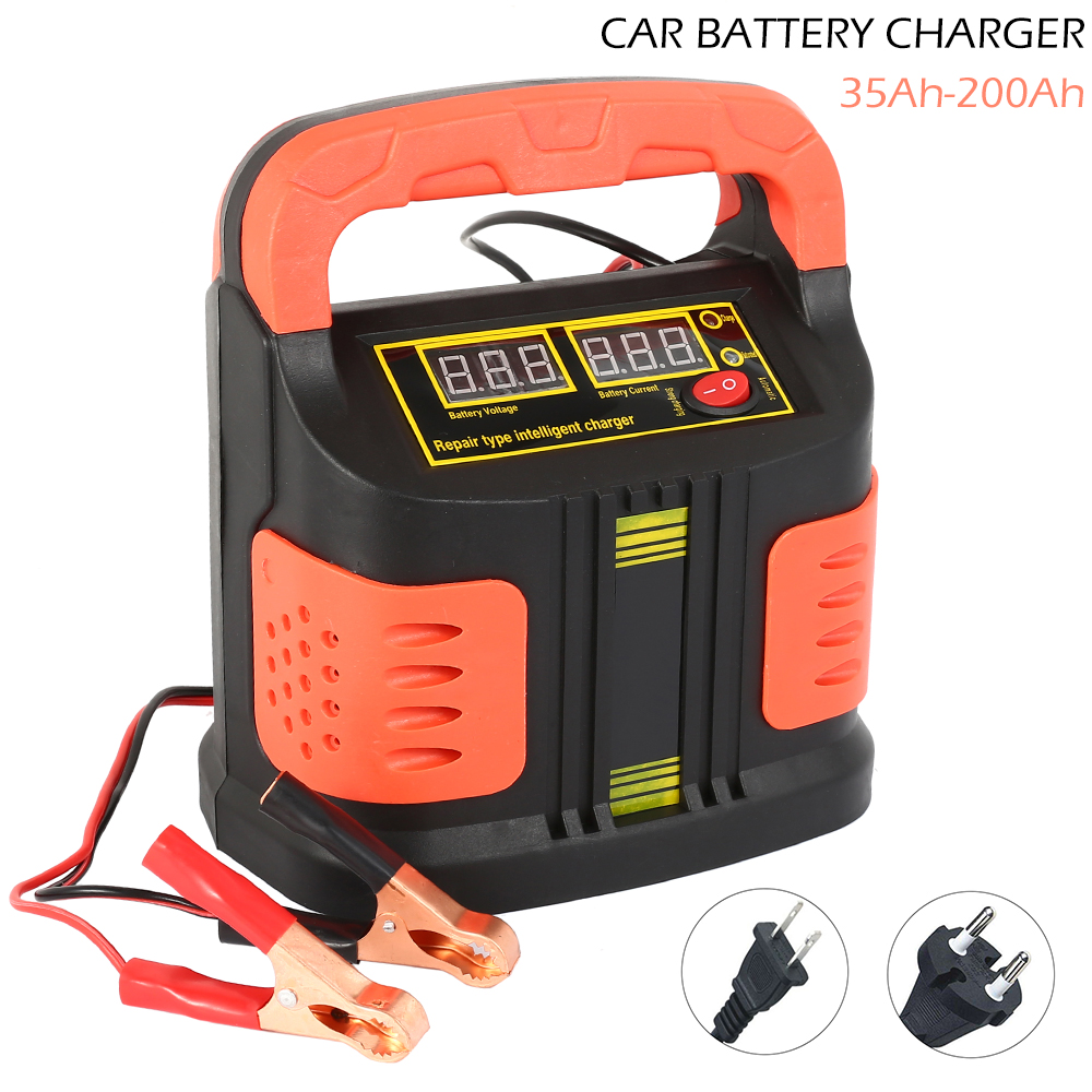 350W 12V/24V 35Ah-200Ah <font><b>Car</b></font> <font><b>Battery</b></font> <font><b>Charger</b></font> Full Automatic14A Adjust <font><b>LCD</b></font> Fast Power Charging for Motorcycle Auto Power Supply image
