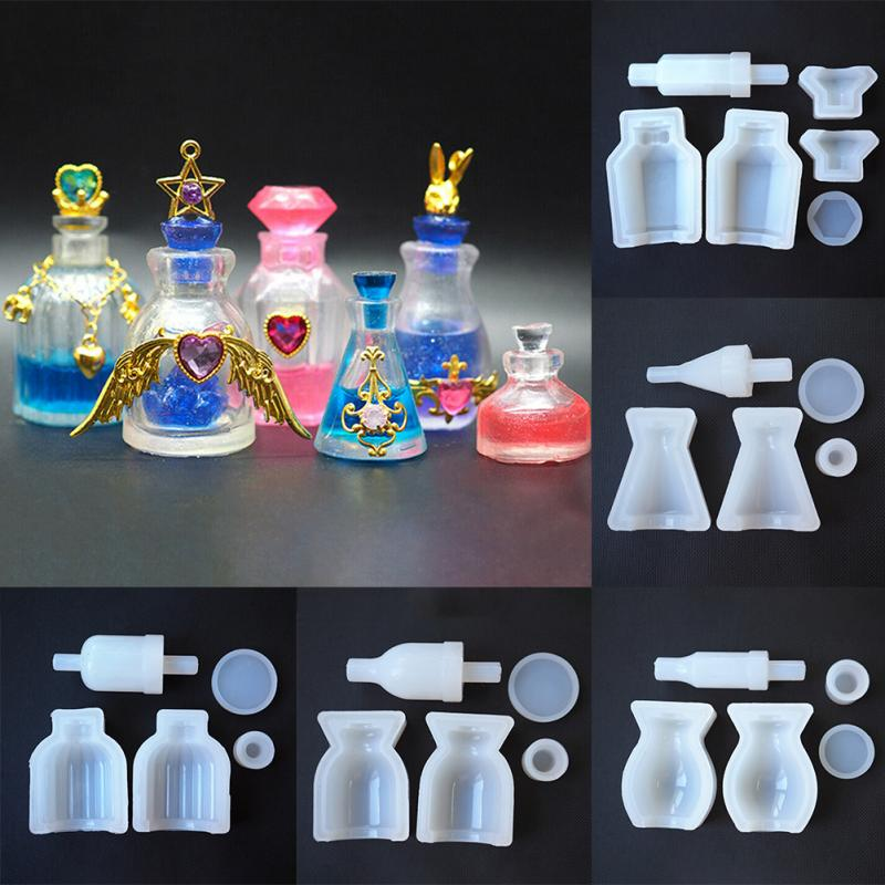 DIY Mini Perfume Bottle Mold Resin Craft Handmade Liquid Medicine Decorative Tool Accessories Making Hollow Silicone Mold Gifts