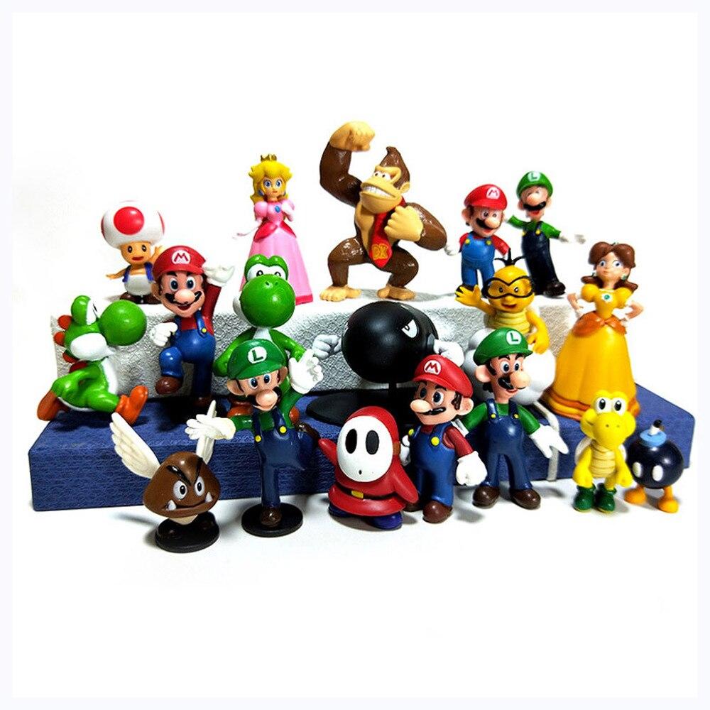 Super Mario Luigi Yoshi KoopaTroopa Goomba 12PCS Action Figure Kid Toy Xmas Gift