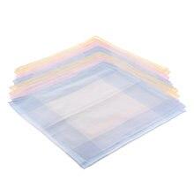 Набор из 12 разных хлопок сатин платок носовой плед печати нагрудный