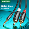 UGREEN RCA Cable HiFi Stereo 2RCA to 3.5mm Audio Cable AUX RCA Jack 3.5 Y Splitter for Amplifiers Audio Home Theater Cable RCA 1