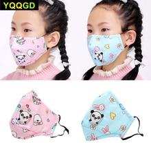 1Pcs PM2.5 Winter Children Mask Respiratory Valve Cartoon Panda Thicken Smog Mask Warm Dust Mask Fits 2-10 Years Old Kids