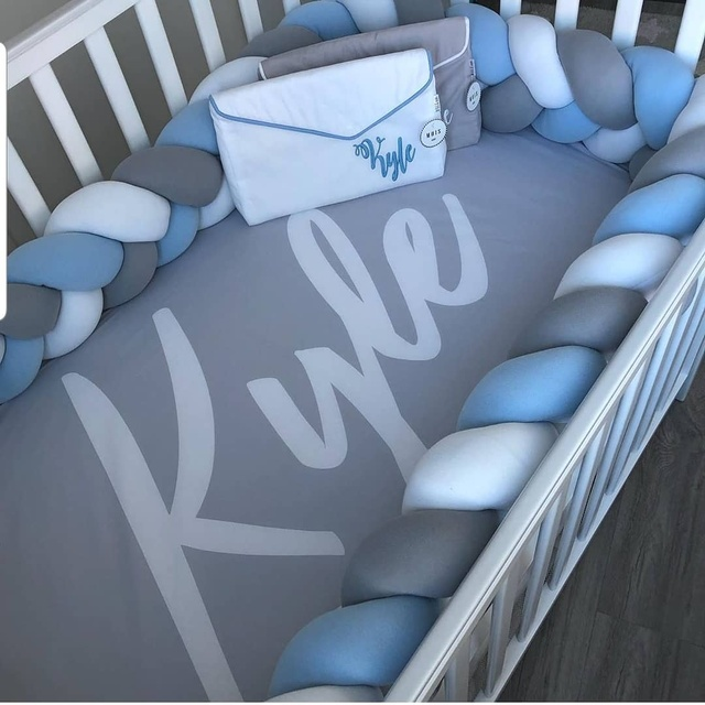 Baby Bumper Bed Braid Knot Pillow Cushion Bumper for Baby Decoration Room 3M 2M 1M Baby Bed Protection Newborn Bed Bumper | Happy Baby Mama