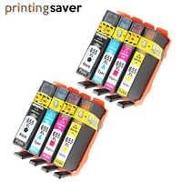 8 pièces Compatibles HP 655 HP655 655XL Cartouche D'encre avec puce Pour HP Deskjet 3525 4615 4625 5525 6525 Imprimante