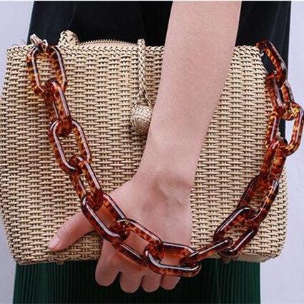 5 pièces par Lot résine chaîne grand anneau mode résine sac sangle en plastique sac poignée cintre bricolage accessoires acrylique chaîne sac sangle