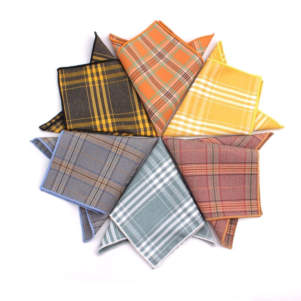 New Suits Pocket Square For Men Women Fashion Chest Towel Hanky Gentlemen Hankies Men's Plaid Handkerchief Casual Pocket Towel