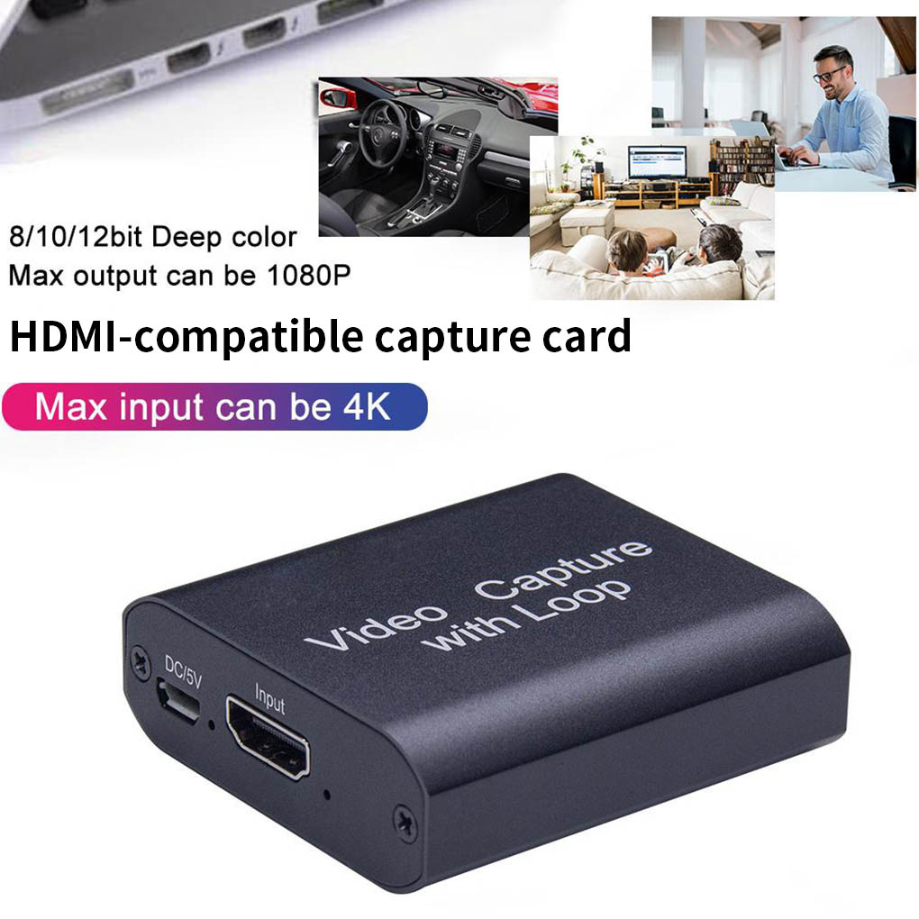 4K Graphics Capture Card HD to USB/HD Video Recorder Box for Live Streaming Video HD-compatible Capture Card Digital Converter 1