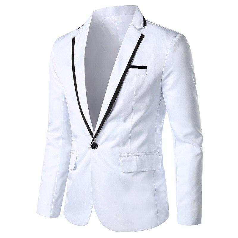 Single-button Men's Suit Jacket Spring Autumn  Men Red Blazer Jacket Plus Size