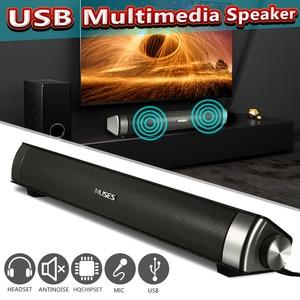 Проводная звуковая панель, система колонок 6 Вт, USB мультимедиа, аудио, Hi-Fi, стереозвук для компьютера, ПК, ноутбука, настольного смартфона