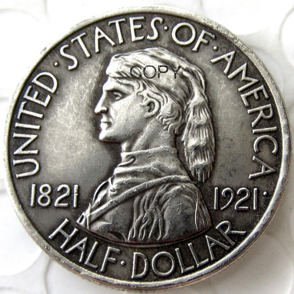 USA 1921 Missouri Commemorative Half Dollar Silver Plated Copy Coin