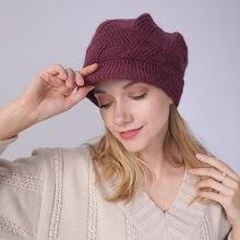 Женская шапка на осень и зиму повседневный берет из натурального