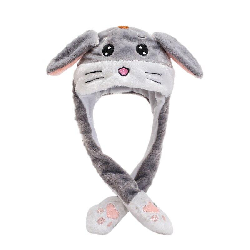 Kocozo, шапка кролика, подвижные уши, милая мультяшная игрушка, шапка, подушка безопасности, Kawaii, забавная шапка-игрушка, Детская плюшевая игрушка, подарок на день рождения, шапка для девочек