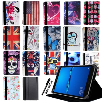 Drop Resistance Foldable Leather Stand Cover Case Suitable for Huawei MediaPad T1/T2/T3 Tablet Case+pen Protector - discount item  40% OFF Tablet Accessories