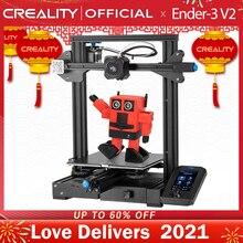 CREALITY placa base de Ender 3 3D V2 con controladores paso a paso, silenciosa, TMC2208, interfaz de usuario, impresora 3D Lcd de carborindón a Color de 4,3 pulgadas