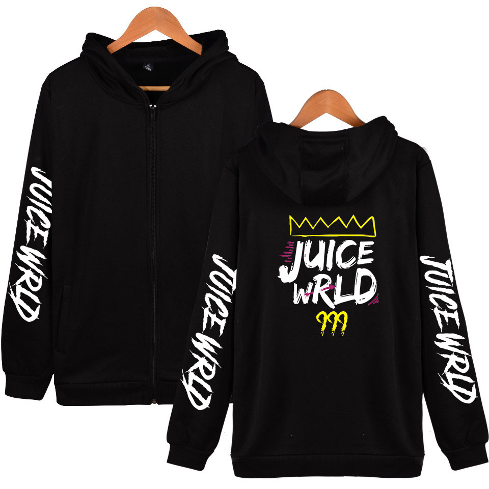 Men's Jacket Juice Wrld Zipper Hoodies Sports jacket Juce Wrld Fans Coats XXS-4XL Spring and autumn casual Student youth Coats