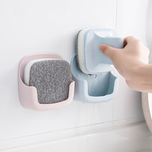 цена на Wall-mounted Pan Brush with Handle Kitchen Sponge Bowl Scrub Pan Brush To Remove Grease Cleaning Brush