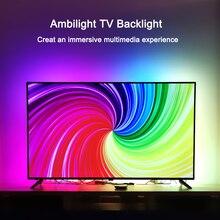 """Kit TV rétro éclairage Ambilight effet TV Ambilight pour TV 1080P sources HDMI salon lumières éclairage ambiant polarisé pour 55 """" 80"""" TV"""