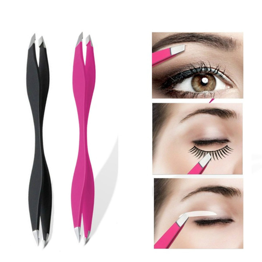 1piece Tweezers Rose Beauty Makeup Tools Double Ends Eyebrow Tweezer Anti-Static Eyelash Extension Pincet Makeup Tools