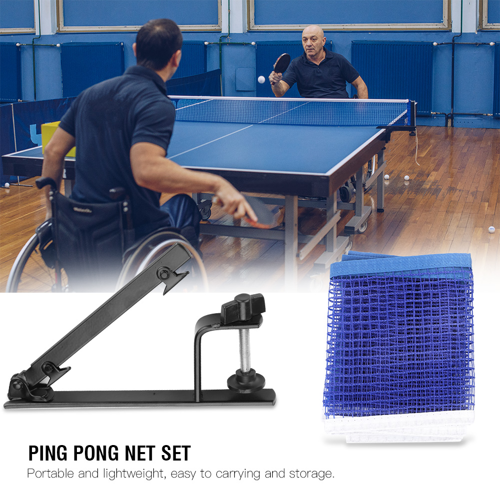 Free Shipping Professional Metal Table Tennis Table Net Ping Pong Table Net Portable Table Tennis Net With Metal Clamp Posts