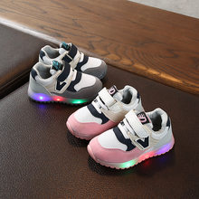 LOOZYKIT Fashion Children Luminous Shoes Boys Girls Sport Running Sneakers Toddler Baby Little Kids LED Sneakers(China)