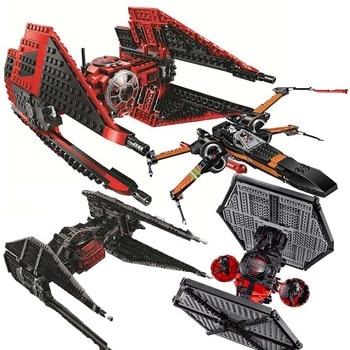 цена на New 2019 Star Wars Red Tie Fighter AT-TE Walker Building Blocks Brick Toys For Children