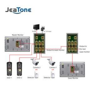 Image 5 - Jeatone 7 Polegada indoor monitor de vídeo porta telefone campainha intercom sistema gravação vídeo foto tomada montagem na parede prata