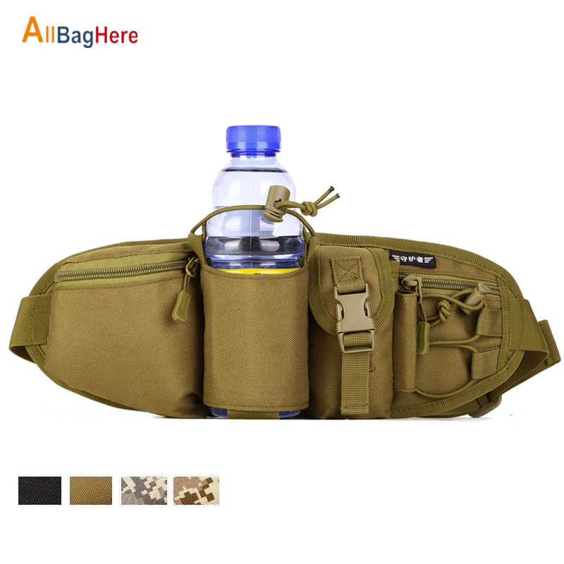 Men's Waterproof Fanny Waist Packs Belt Hip Portable Military Male Chest Bags Durable Water Bottle Outdoor Cycling Climbing Bags