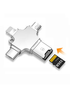 Laptops-Accessories Microsd-Reader-Adapter Multi Micro-Usb 4-In-1 Media-Dashboard Tf-Cardreader
